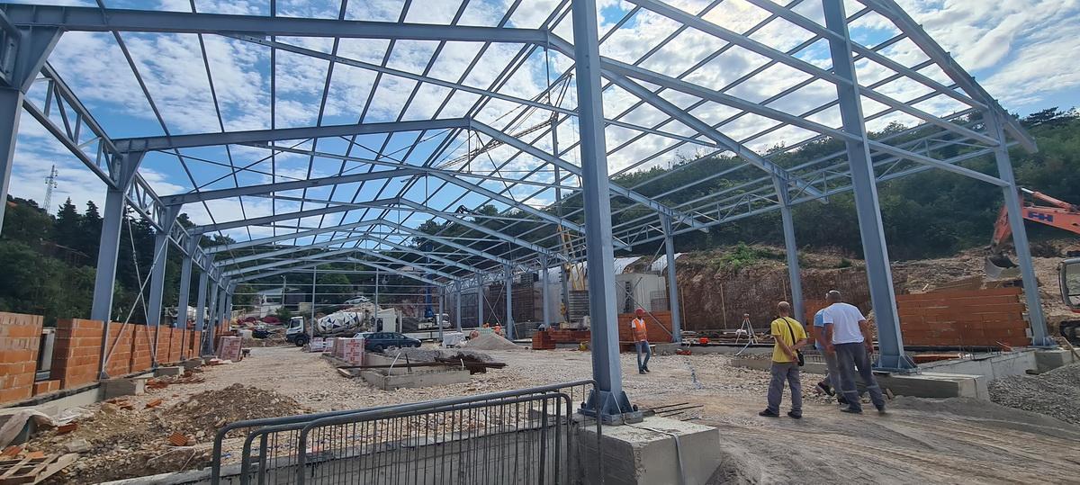 Izgradnja sortirnice kolovoz 2021